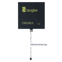 FXR.06.52.0075X.A.dg NFC Flex PCB antenna with 75mm Twisted Pair 28AWG cable and ACH(F), 47*47*0.24mm