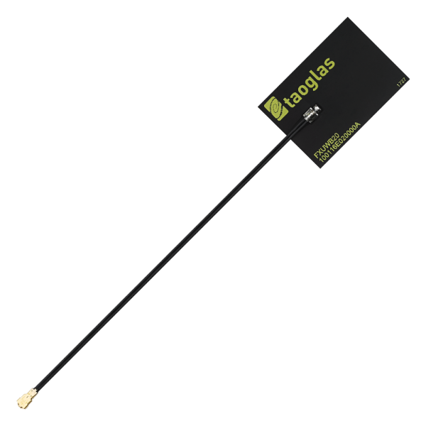 AccuraUWB FXUWB20.07 3-5 & 6-10GHz Ultra Wideband (UWB) Flex Antenna with 100mm 1.37mm IPEX MHFHT