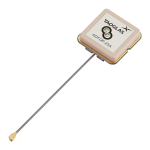 ADFGP.25A – Embedded Dual Pin Active GNSS Patch Antenna, I-PEX MHF® I (U.FL)