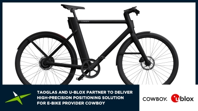 Image for Taoglas and u-blox Partner to Deliver Highly Reliable Positioning Solution for E-Bike provider COWBOY
